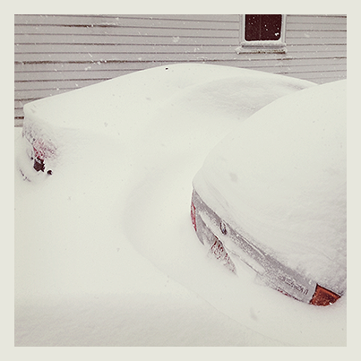 I'm told cars were parked in our driveway. You almost wouldn't know it.