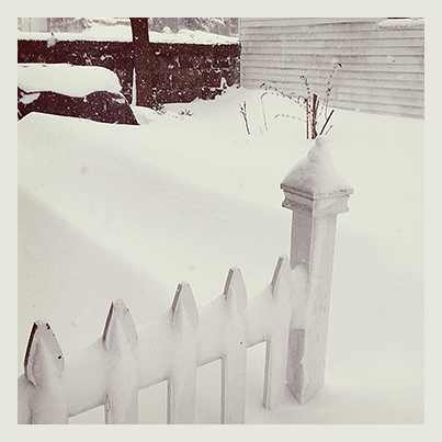 Crazy snow drifts that nearly covered our three and a half foot tall grill!