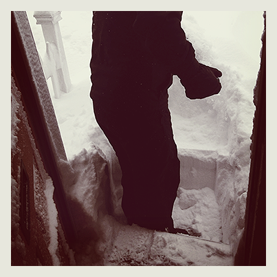 Larry begins the arduous dig out process.